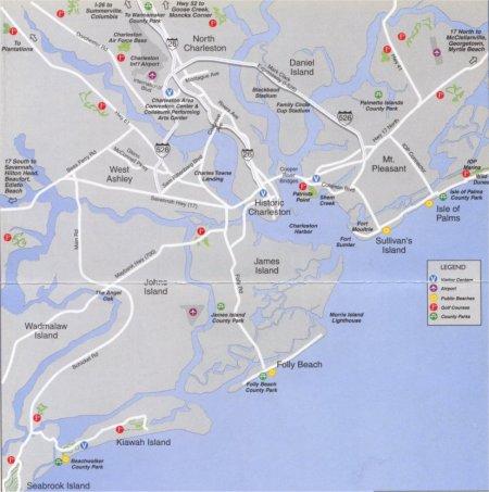 Charleston South Carolina Area Map