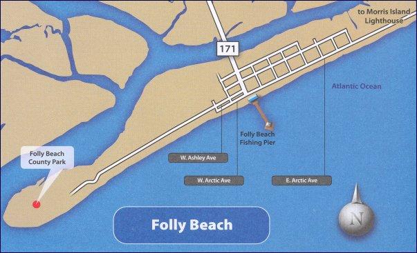 Map Of Folly Beach SC South Carolina Charlestons Finest City Guide