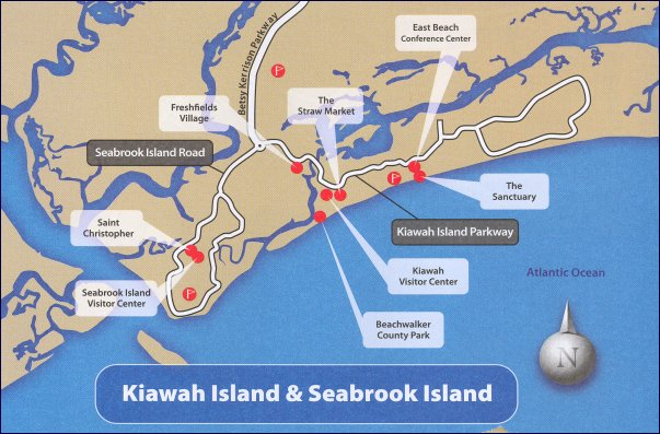 Kiawah Island Area Map