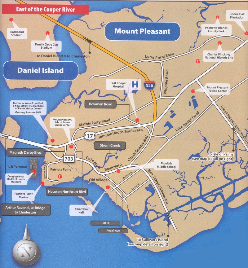 Free Interactive and Printable Charleston SC Maps – Charleston Sc Tourist Attractions Map